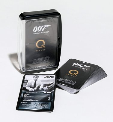 Limited Edition James Bond 007 Gadgets and Vehicles Top Trumps Game