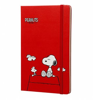 Limited Edition Peanuts Red Hardcover Ruled Notebook from Moleskine