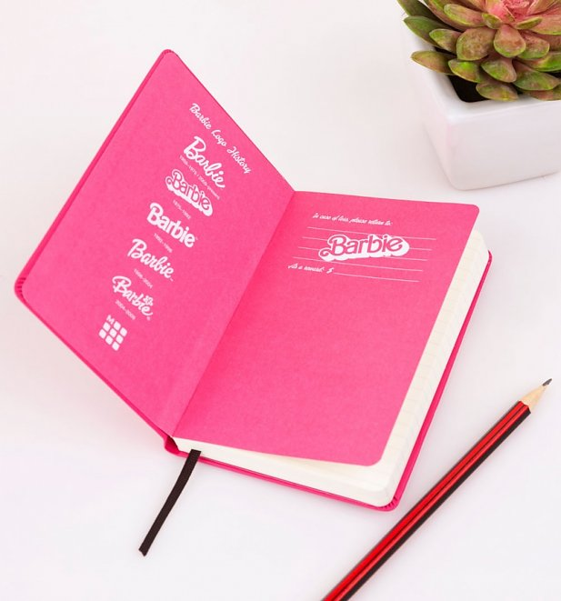 Limited Edition Pink Barbie Logos Ruled Notebook from Moleskine