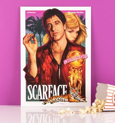 Limited Edition Scarface The World Is Yours Art Print