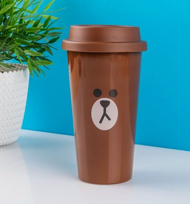 Line Friends Brown Travel Mug