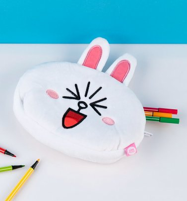 Line Friends Cony Plush Pencil Case