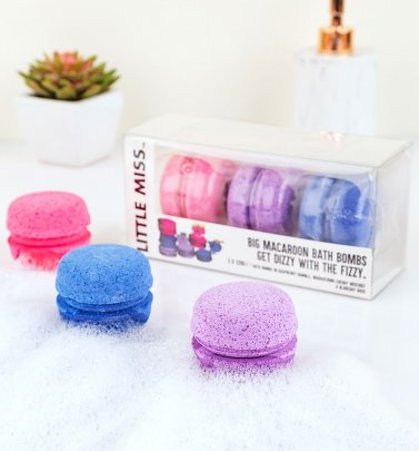 Little Miss Macaroon Bath Bombs Gift Set
