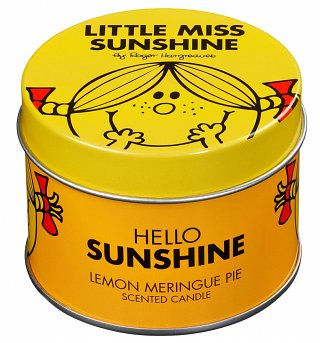 Little Miss Sunshine Lemon Meringue Scented Candle In Tin