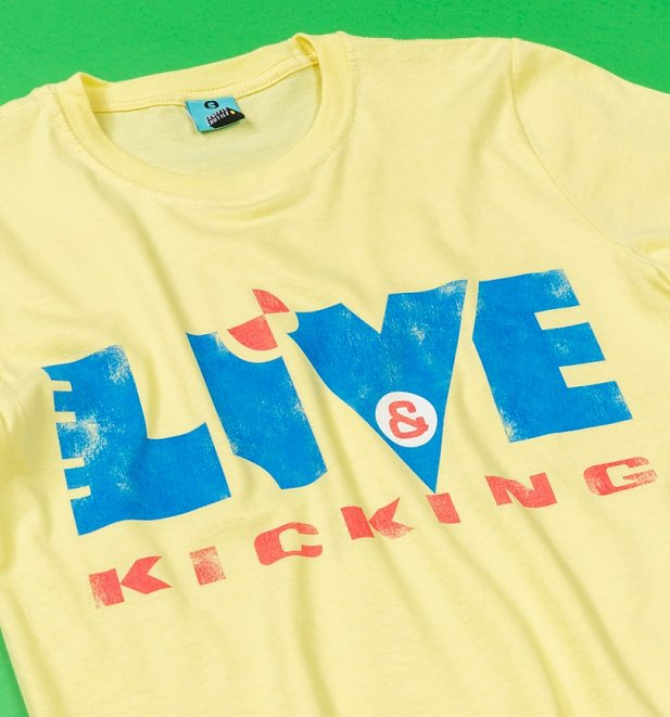 Live And Kicking Yellow T-Shirt