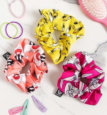 Looney Tunes 3 Pack Hair Scrunchies