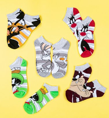 Looney Tunes Pack Of 5 Ankle Socks