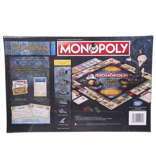 Lord Of The Rings Monopoly Game Set