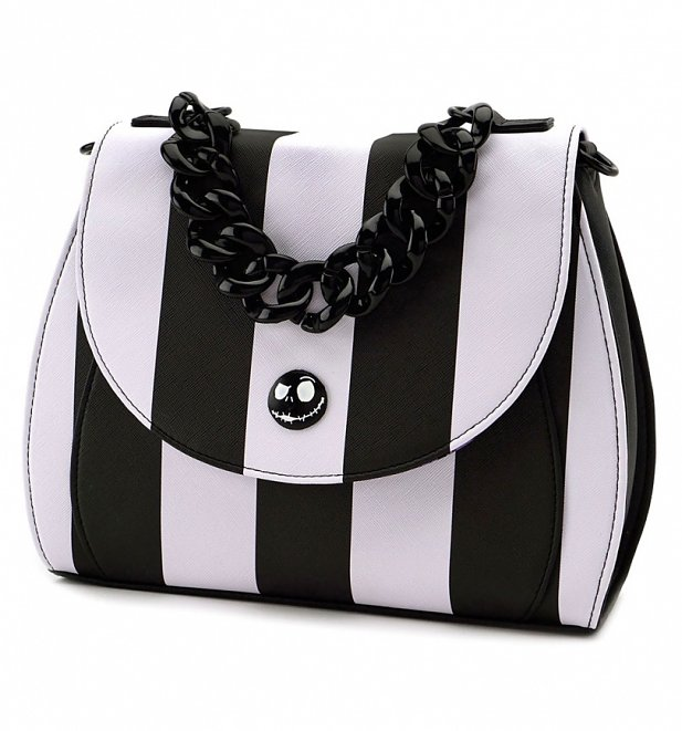 Loungefly x The Nightmare Before Christmas Striped Crossbody Bag