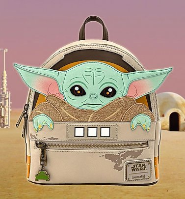 Loungefly Baby Yoda Star Wars The Mandalorian The Child Cradle Mini Backpack