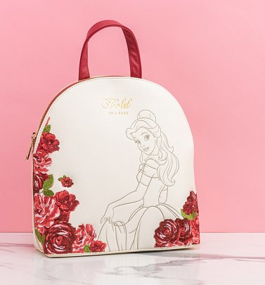 Loungefly Beauty and the Beast Belle Floral Mini Backpack