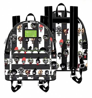 Loungefly Beetlejuice Group Chibi All Over Print Mini Backpack