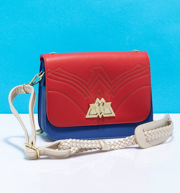 Loungefly DC Comics Wonder Woman Swivel Lock Lasso Strap Cross Body Bag