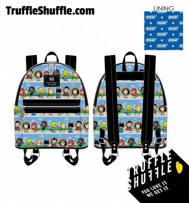Loungefly DC Superheros Chibi Lineup Mini Backpack
