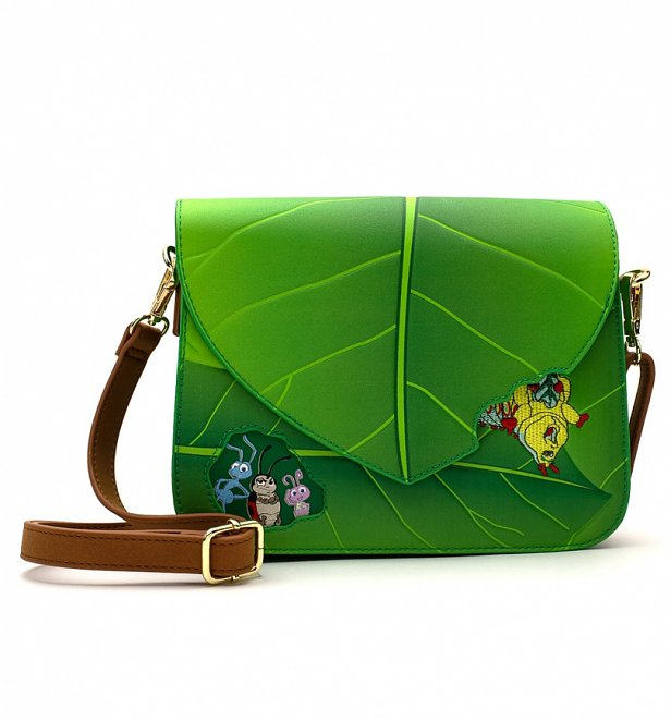 Loungefly Disney A Bugs Life Leaf Crossbody Bag