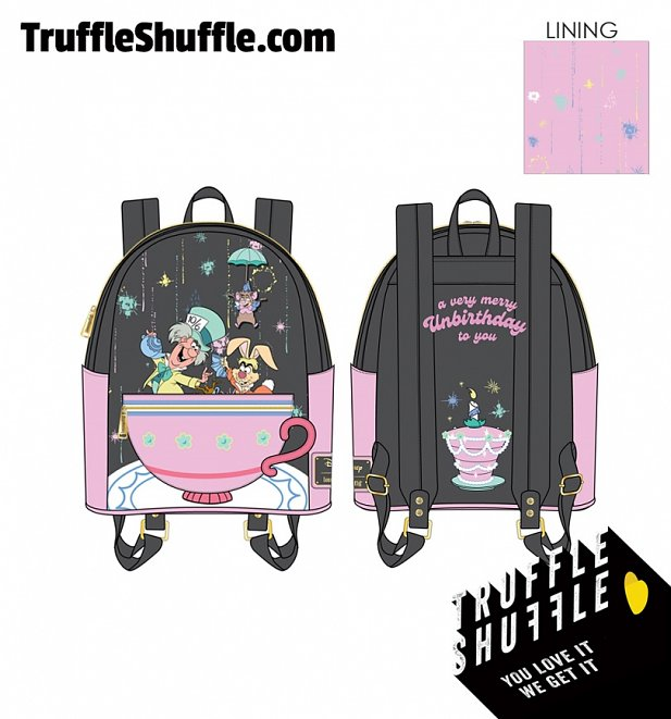 Loungefly Disney Alice In Wonderland A Very Merry Un-Birthday To You Mini Backpack