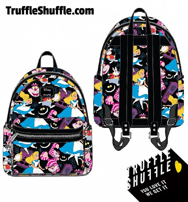 Loungefly Disney Alice In Wonderland All Over Print Classic Mini Backpack