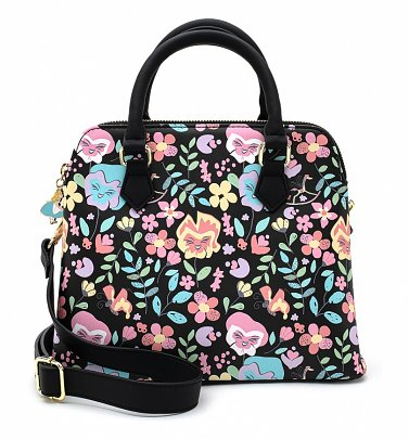 Loungefly Disney Alice In Wonderland Floral All Over Print Crossbody Bag