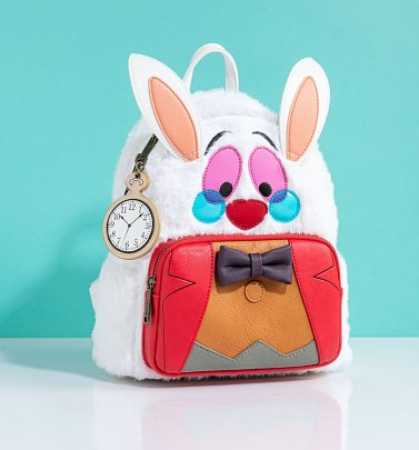 Loungefly Disney Alice in Wonderland White Rabbit Mini Backpack