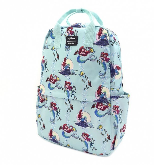 Loungefly Disney Ariel Scenes All Over Print Nylon Backpack