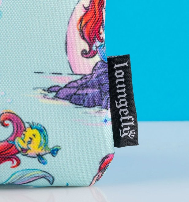 Loungefly Disney Ariel Scenes All Over Print Nylon Pouch