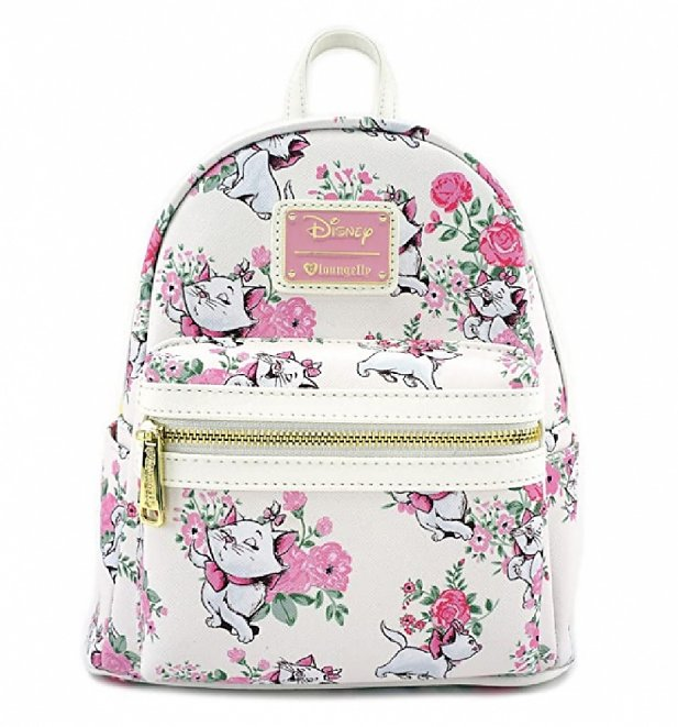 Loungefly Disney Aristocats Marie Floral All Over Print Mini Backpack