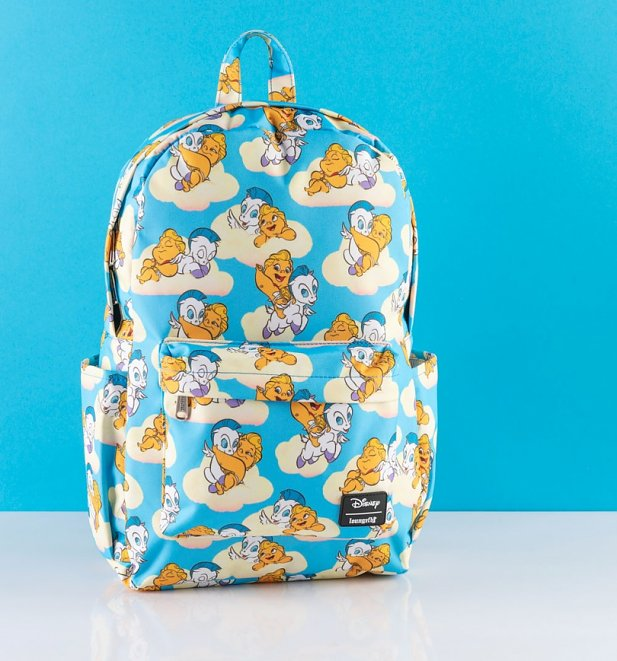 Loungefly Disney Baby Hercules and Pegasus All Over Print Nylon Backpack