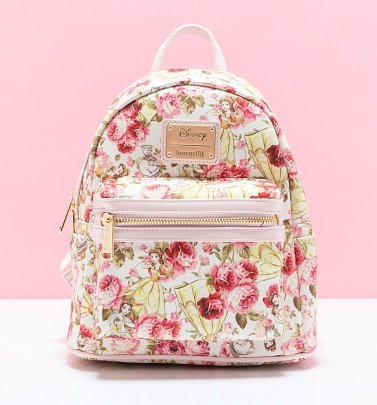 Loungefly Disney Beauty and The Beast Belle Floral Flower Mini Backpack