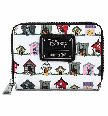 Loungefly Disney Dog Houses Zip Around Wallet