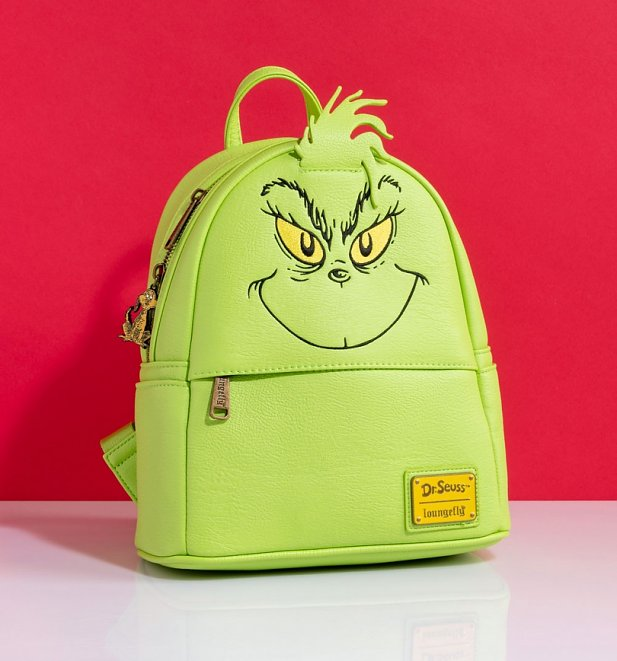Loungefly Disney Dr Seuss The Grinch Mini Backpack