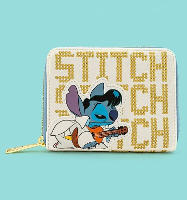 Loungefly Disney Elvis Stitch Zip Around Wallet
