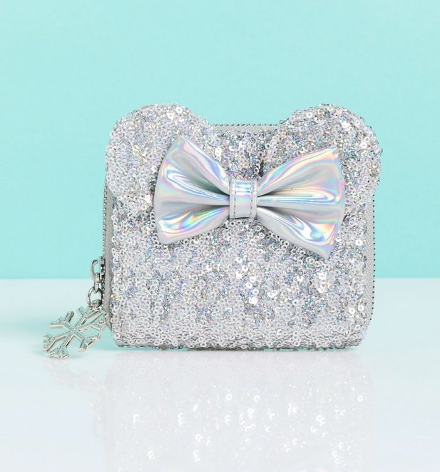 Loungefly Disney LASR Holographic Sequin Minnie Mouse Wallet