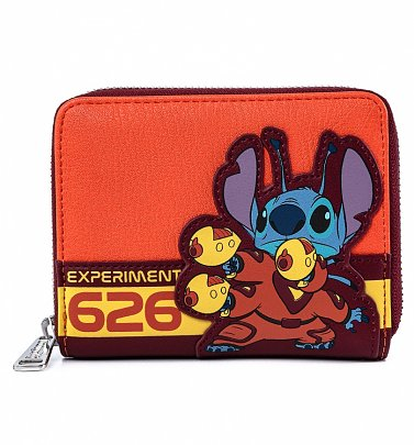 Loungefly Disney Lilo And Stitch Experiment 626 Zip Around Wallet