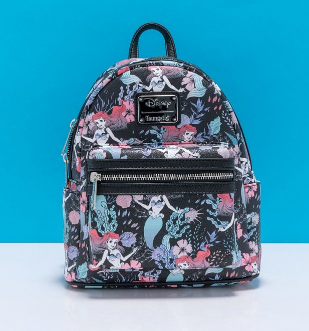 Loungefly Disney Little Mermaid Ariel Floral All Over Print Mini Backpack