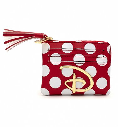Loungefly Disney Logo Red and White Polka Dot Coin Purse