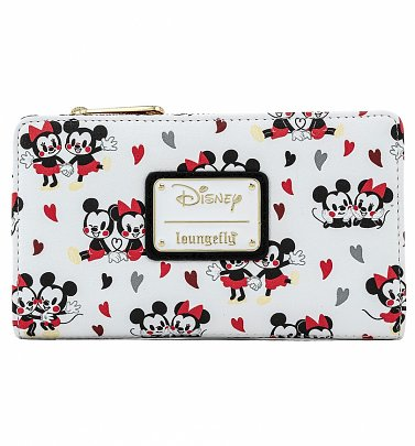 Loungefly Disney Mickey And Minnie Mouse Love All Over Print Wallet