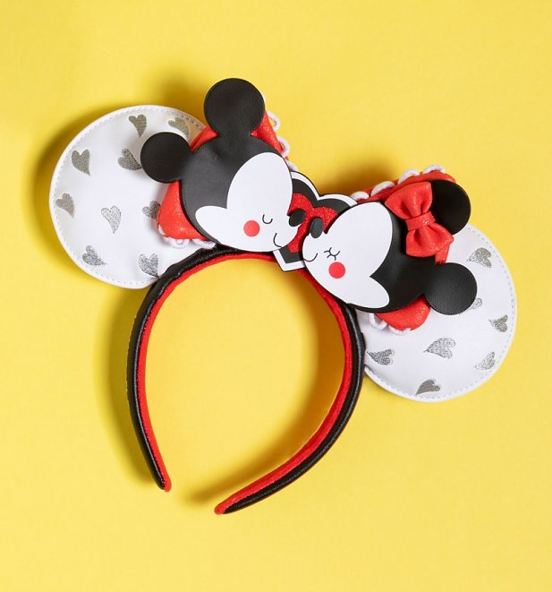 Loungefly Disney Mickey And Minnie Mouse Love Ears Headband