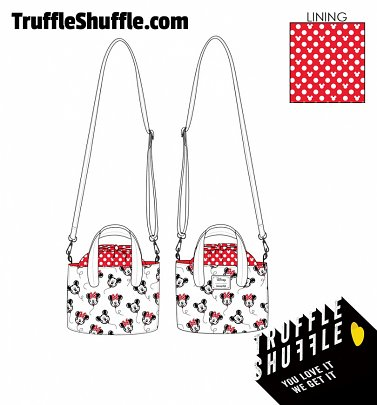 Loungefly Disney Mickey Minnie Balloons All Over Print Handbag