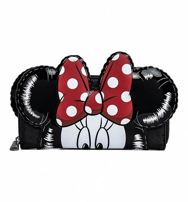 Loungefly Disney Mickey Minnie Balloons Cosplay Zip Around Wallet