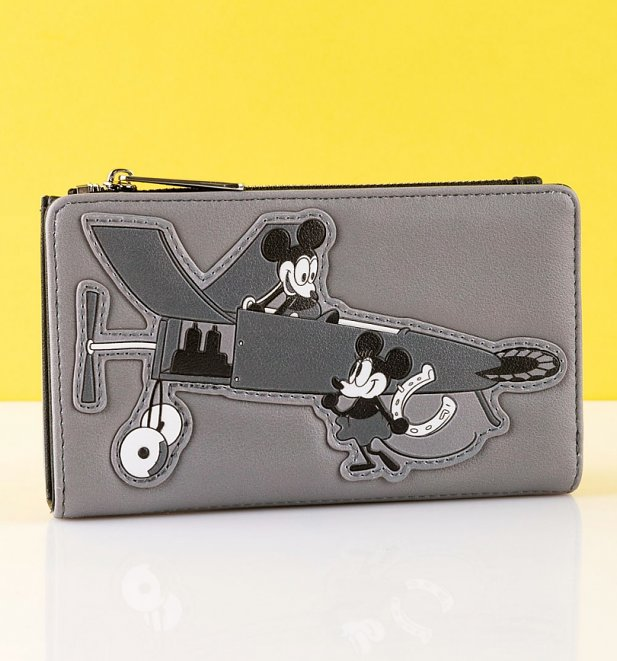 Loungefly Disney Mickey Mouse Plane Crazy Flap Purse