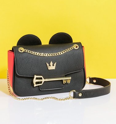 Loungefly Disney Mickey Mouse Kingdom Hearts Mickey Key Crossbody Bag
