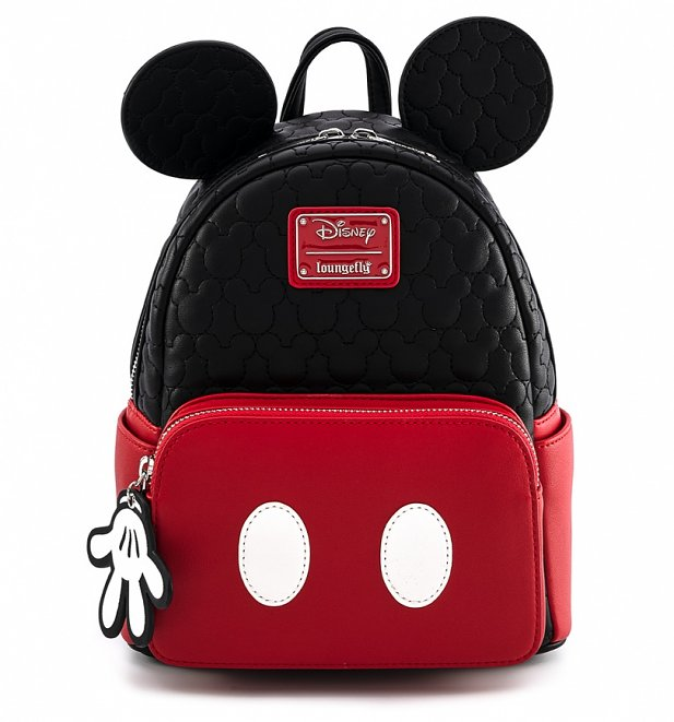 Loungefly Disney Mickey Mouse Quilted Oh Boy Mini Backpack