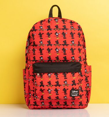 Loungefly Disney Mickey Parts All Over Print Nylon Backpack
