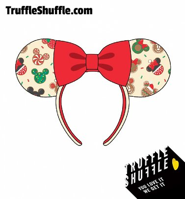 Loungefly Disney Mickey & Minnie Christmas Cookies Headband