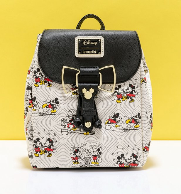 Loungefly Disney Minnie And Mickey Mouse Bow Backpack