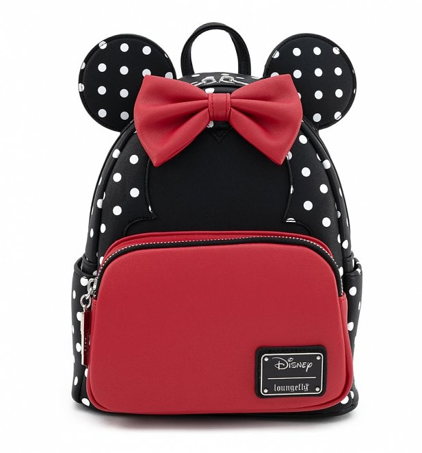 Loungefly Disney Minnie Mouse Polka Dot Bow Mini Backpack