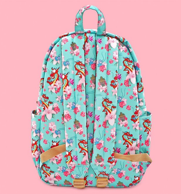 Loungefly Disney Mulan Mushu Cloud All Over Print Nylon Backpack