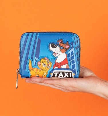 Loungefly Disney Oliver and Company Taxi Ride Zip Around Wallet