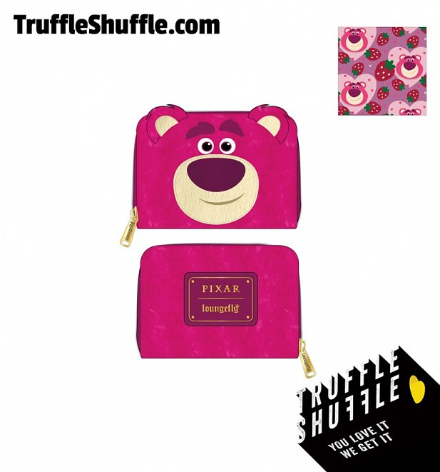 Loungefly Disney Pixar Lotso Cosplay Sherpa Zip Around Wallet