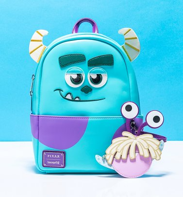 Loungefly Disney Pixar Monsters, Inc. Sully and Boo Cosplay Mini Backpack